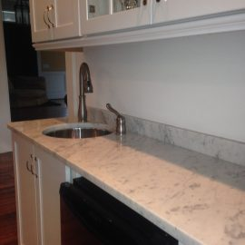 White+Marble+Wet+Bar+in+Orchard+Park+NY